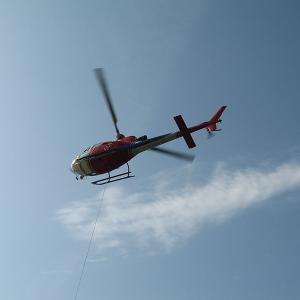 Trasporto materiale con elicottero